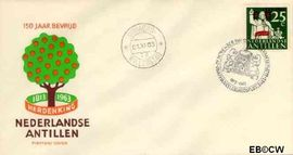 Nederlandse Antillen NA E28  1963 Onafhankelijkheid Nederland  cent  FDC zonder adres