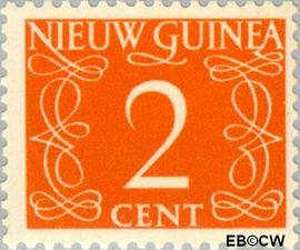 Nieuw-Guinea NG 2  1950 Type 'van Krimpen' 2 cent  Gestempeld