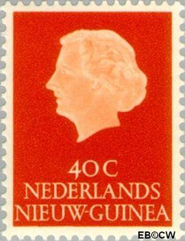 Nieuw-Guinea NG 32  1954 Type 'En Profile' 40 cent  Gestempeld