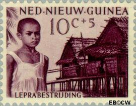 Nieuw-Guinea NG 42  1957 Leprabestrijding 10+5 cent  Gestempeld