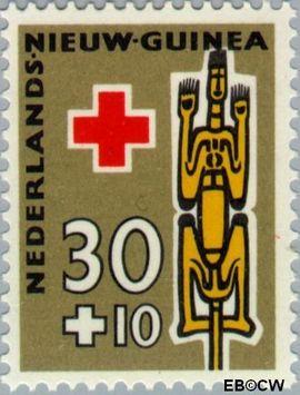 Nieuw-Guinea NG 52  1958 Voorouderbeelden 30+10 cent  Gestempeld