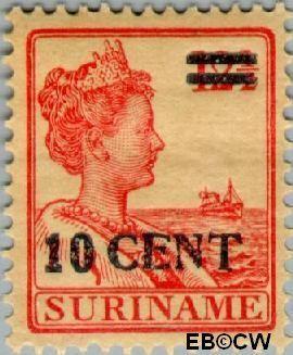 Suriname SU 112  1925 Hulpuitgifte 10 op 12½ cent  Gestempeld