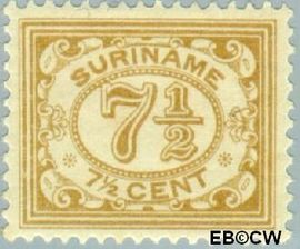 Suriname SU 82  1926 Drukwerkzegel 7½ cent  Gestempeld