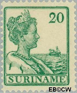 Suriname SU 92  1915 Scheepjes-type 20 cent  Gestempeld