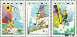 Aruba AR 125#127  1993 Zeilen  cent  Postfris