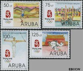 Aruba QR 397#399  2008 Olympische Spelen Beijing  cent  Postfris