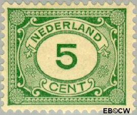 Nederland NL 107  1922 Cijfer type 'Vürtheim' 5 cent  Postfris