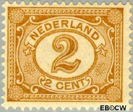 Nederland NL 54  1899 Cijfer type 'Vürtheim' 2 cent  Postfris