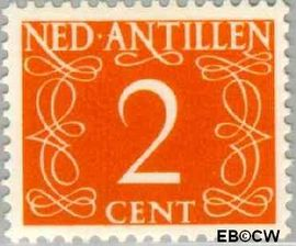 Nederlandse Antillen NA 213  1950 Type 'van Krimpen' 15 cent  Postfris