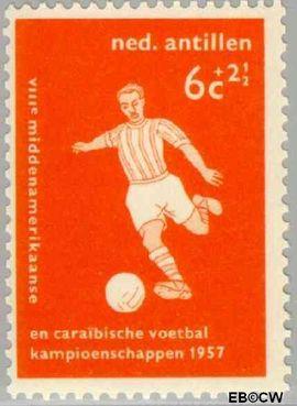 Nederlandse Antillen NA 265  1957 Voetbalkampioenschappen  cent  Postfris