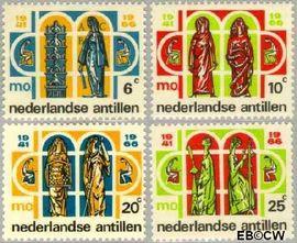 Nederlandse Antillen NA 372#375  1966 Middelbaar Onderwijs 20+10 cent  Postfris