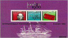 Nederlandse Antillen NA 662  1980 Postzegeltentoonstellling Londen 150 cent  Postfris