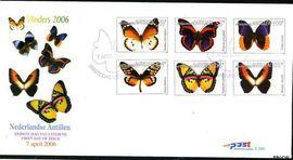 Nederlandse Antillen NA E381  2006 Vlinders 285+125 cent  FDC zonder adres
