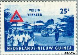 Nieuw-Guinea NG 73  1962 Veilig verkeer 25 cent  Gestempeld