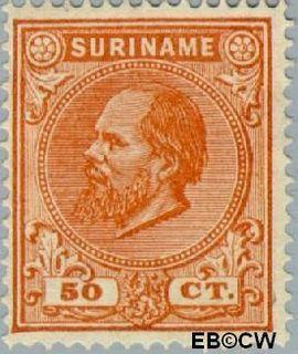 Suriname SU 13  1873 Eerste emissie 50 cent  Gestempeld