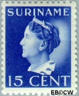 Suriname SU 194  1941 Koningin Wilhelmina 15 cent  Gestempeld
