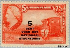 Suriname SU 214  1945 Steunfonds 7½+5 cent  Gestempeld