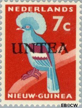 West-Nieuw-Guinea NG WNG12  1962 UNTEA opdruk 7 cent  Gestempeld