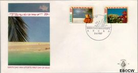Aruba AR E10  1987 Toerisme  cent  FDC zonder adres