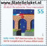 Bundesrepublik brd 2311#  2003 Frans-Duitse samenwerking  Postfris