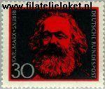 Bundesrepublik BRD 558#  1968 Marx, Karl  Postfris