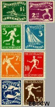 Nederland NL 212#219  1928 Olympische Spelen- Amsterdam  cent  Postfris
