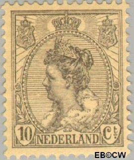 Nederland NL 81  1921 Koningin Wilhelmina- 'Bontkraag' grove arcering 10 cent  Postfris