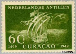 Nederlandse Antillen NA 206  1949 Ontdekking 15+2½ cent  Postfris