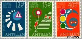Nederlandse Antillen NA 469#471  1973 Veilig verkeer 45 cent  Postfris