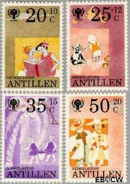 Nederlandse Antillen NA 636#639  1979 Jaar van het Kind  cent  Postfris