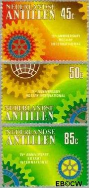 Nederlandse Antillen NA 648#650  1980 Rotary International  cent  Postfris