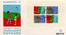 Nederlandse Antillen NA E116a  1978 Kind en vrije tijd 45 cent  FDC zonder adres