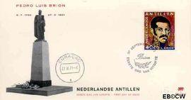 Nederlandse Antillen NA E67  1971 Pedro Luis Brion  cent  FDC zonder adres