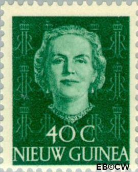 Nieuw-Guinea NG 14  1950 Type 'En Face' 40 cent  Gestempeld