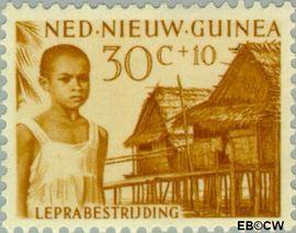 Nieuw-Guinea NG 44  1957 Leprabestrijding 30+10 cent  Gestempeld