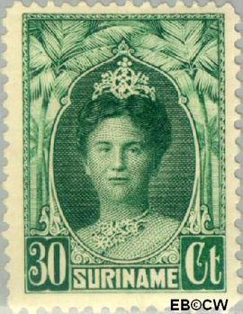 Suriname SU 125  1927 Gewijzigd jubileum-type 30 cent  Gestempeld