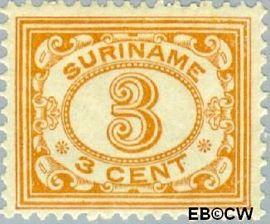 Suriname SU 74  1913 Drukwerkzegel 3 cent  Gestempeld