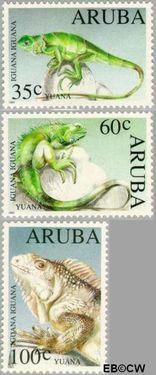Aruba AR 128#130  1993 Bedreigde dieren  cent  Postfris
