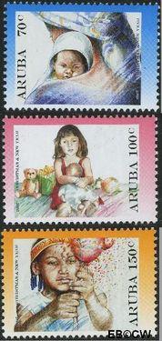 Aruba AR 381#383  2007 Kerst en nieuwjaar  cent  Postfris