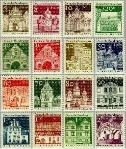 Berlin ber 270#285  1966 Duitse bouwwerken- grootformaat  Postfris