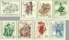 Berlin ber 330#337  1969 Berlijn 19e eeuw  Postfris
