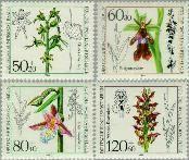 Berlin ber 724#727  1984 Orchideeën  Postfris