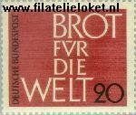 Bundesrepublik BRD 389#  1962 Brot für die Welt  Postfris
