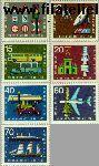 Bundesrepublik BRD 468#474  1965 Verkeerstentoonstelling  Postfris
