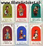 Gibraltar gib 328#333  1975 Kinderen en kerstfeest  Postfris