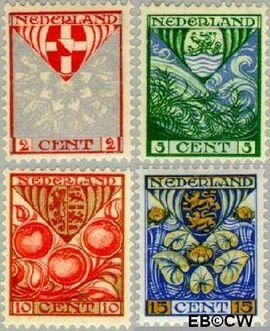 Nederland NL 199#202  1926 Provinciewapens   cent  Postfris