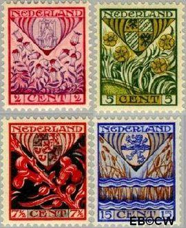 Nederland NL 208#211  1927 Provinciewapens  cent  Postfris