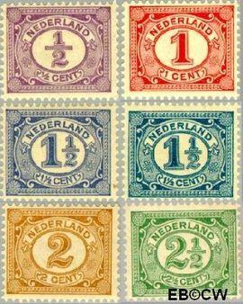 Nederland NL 50#55  1899 Cijfer type 'Vürtheim'  cent  Postfris