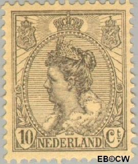 Nederland NL 81#  1921 Koningin Wilhelmina- 'Bontkraag' grove arcering  cent  Postfris
