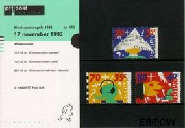 Nederland NL M115  1993 Kind en media  cent  Postfris